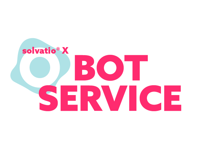 solvatio X bot chatbot voicebot logo left