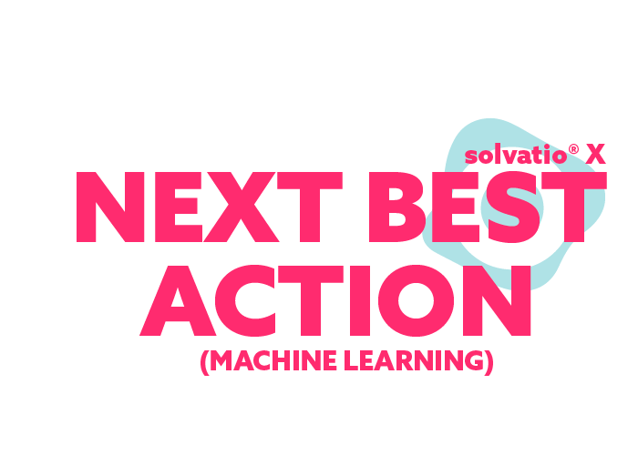 solvatio X next best action machine learning logo right